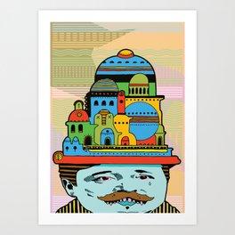 GLAD HATTER 2 Art Print