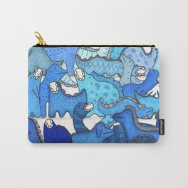 Blue Dinosaur Gradient Carry-All Pouch