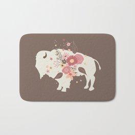 Floral Buffalo Bath Mat