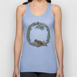 Squirrel wreath Unisex Tank Top