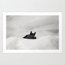 Horse Horizon Art Print