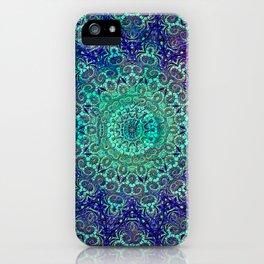 Aqua and Violet Mandala Lace iPhone Case