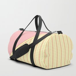 Yellow, Pink and Orange Striped Pattern Duffle Bag