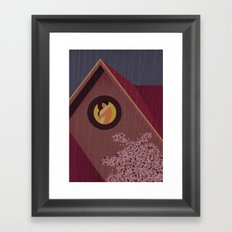 Rain in the month of March Framed Art Print