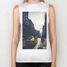 walking in New York Biker Tank