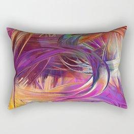 fingerpaint pretty Rectangular Pillow