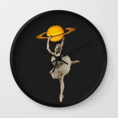 Dance with Saturn Wall Clock