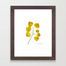 Gold Leaf Art Framed Art Print