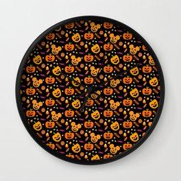 Halloween Mouse Ears Pumpkins MNSSHP Wall Clock
