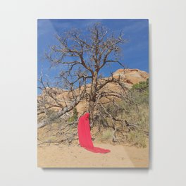 Portrait in Red | Arches V Metal Print