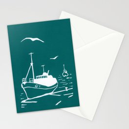 Comrades in Turquoise Stationery Cards