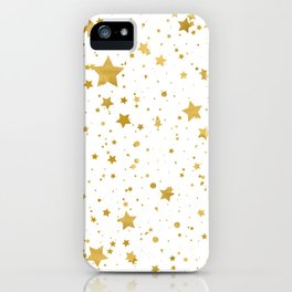 Golden Stars2 -Pure White- iPhone Case
