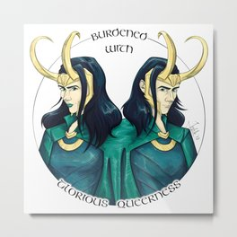 Burdened With Glorious Queerness 1 Metal Print