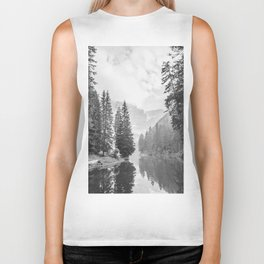 The Perfect View (Black and White) Biker Tank