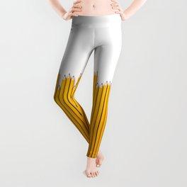 Pencil row / 3D render of very long pencils Leggings