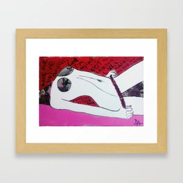 trying not to love you Framed Art Print