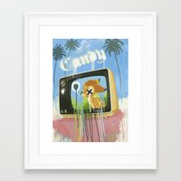 candy Framed Art Prints featuring CANDY by Chris Arran