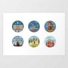 HP- Locations Art Print