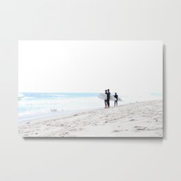 Finding Waves Metal Print
