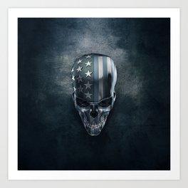 American Flag Skull Art Print