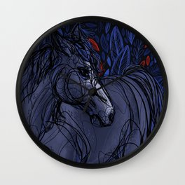 Valor the Mustang Wall Clock
