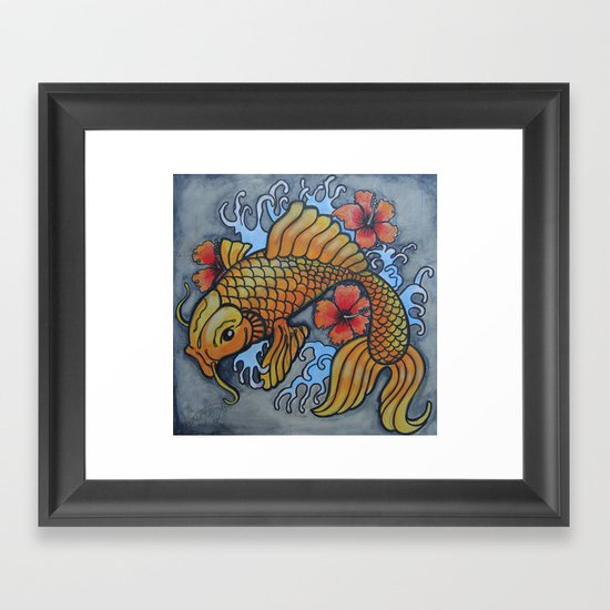 koi fish 02 Framed Art Print