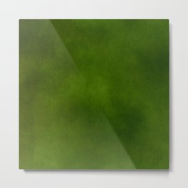 Green Color Velvet Metal Print