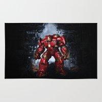 iron man Area & Throw Rugs featuring IRON MAN iron man by alifart