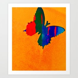 butterfly multicolor Art Print