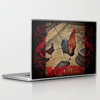 rooster Laptop & iPad Skins featuring Rooster by Justin Alan Casey