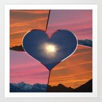 Sunrise sunset moon Art Print