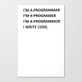I write code Canvas Print