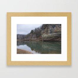 A Brisk Oklahoma Waterscape Framed Art Print