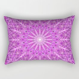 Heart Crystal Mandala Rectangular Pillow