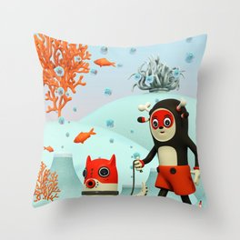 Deeryk and DaPet Throw Pillow