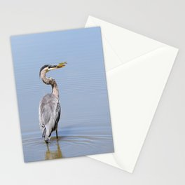 Great Blue Heron Fishing - I Stationery Cards