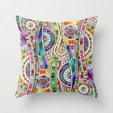 Mosaic colorful background Throw Pillow