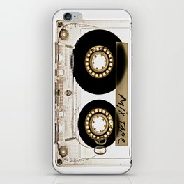 Transparant mix tape Retro Cassette iPhone Skin