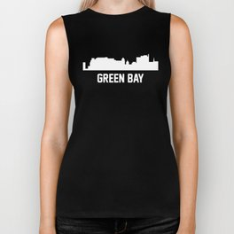 Green Bay Wisconsin Skyline Cityscape Biker Tank
