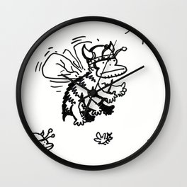 Vanguard of the Viking Ape-Bee Raiding Party Wall Clock