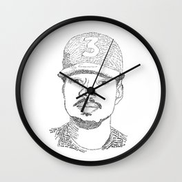 Chance the Rapper Poster Wall Clock