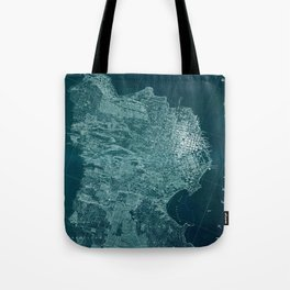 Map Of San Francisco 1857 Tote Bag