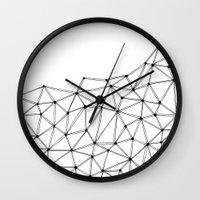 polygon Wall Clocks featuring Polygon by Boneva