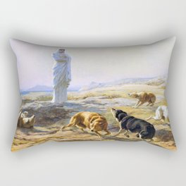 Briton Riviere - Pallas Athena and the herdsman's dogs - Digital Remastered Edition Rectangular Pillow