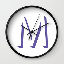 m is for melonie Wall Clock