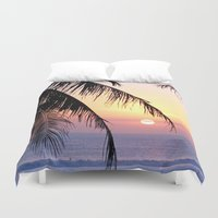 bali Duvet Covers featuring Bali Sunset by Coconut Living