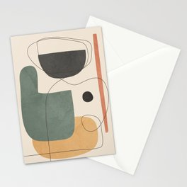 Abstract Minimal Shapes 25 Stationery Cards
