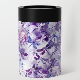 Dragonfly Lullaby in Pantone Ultraviolet Purple Can Cooler