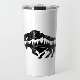 Grand Teton Bison Travel Mug