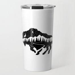 Grand Teton Bison Travel Mug